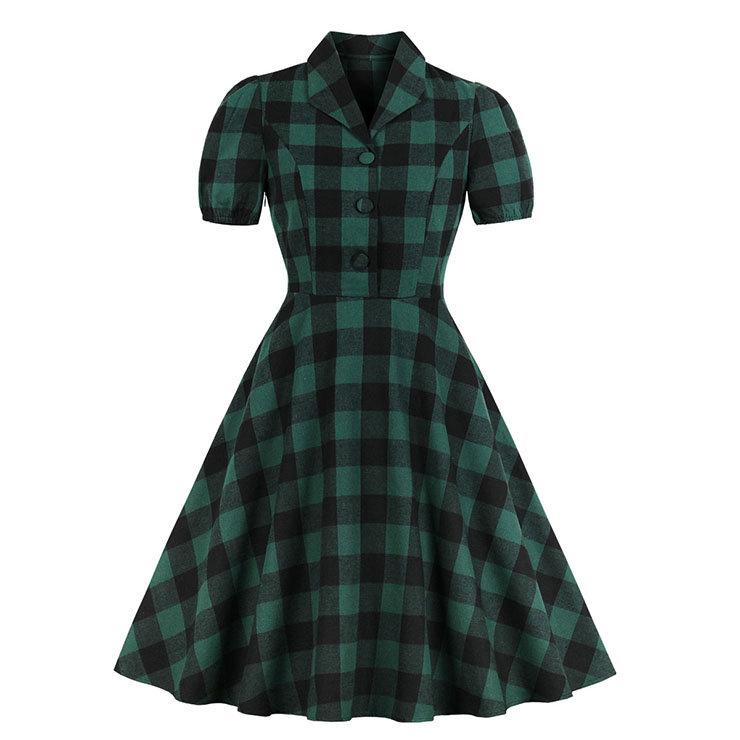 Клетчатое Летнее Платье 50