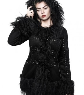 Пальто Salem City Shearling Coat Killstar