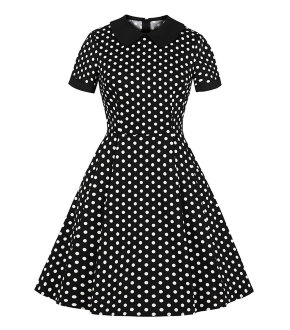 Ретро платье Black and White Polka Dots