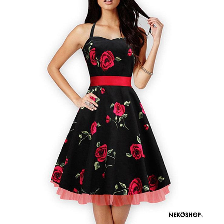 платья в стиле ретро купить фото