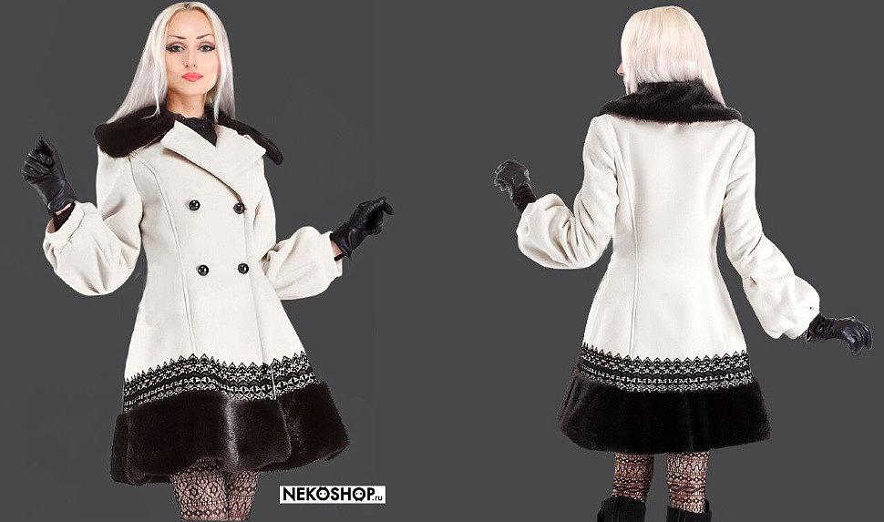 Кашемировое пальто с кружевом и мехом_b
